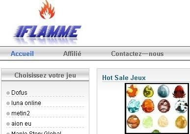 Acheter des kamas   sur www.iflamme.com